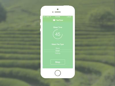 TeaTimer iOS Mock-Up user interface mock-up ios