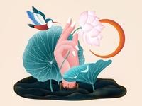 (71/100) Hand and lotus