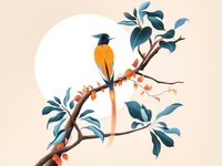 (75/100) Tree & bird