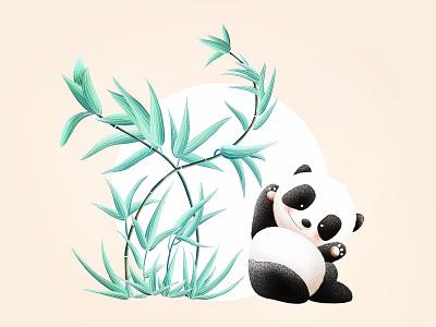 (79/100) Panda & Bamboo designchallenge illustration chinese style chinese culture bamboo panda
