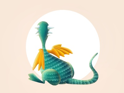 (81/100) Dragon doesn't want to see anyone moon designchallenge illustration chinese dragon