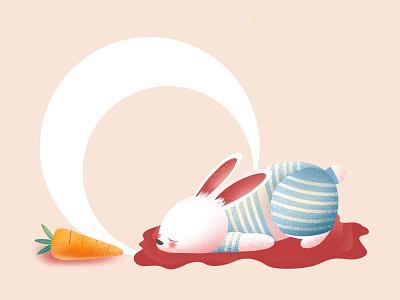 (85/100) Bleeding bunny carrot bleeding blood rabbit bunny designchallenge illustration