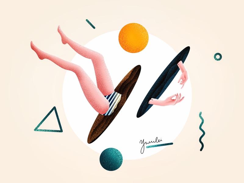(86/100) Hands & Legs confetti sunny side up designchallenge illustration abstract art abstract legs leg hands hand
