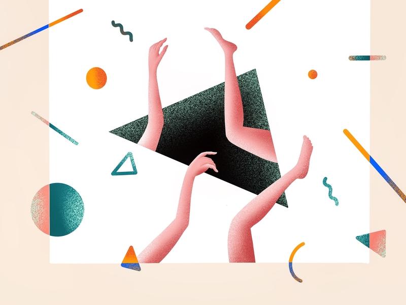 (90/100) hands & Legs designchallenge illustration abstract art abstract hands hand
