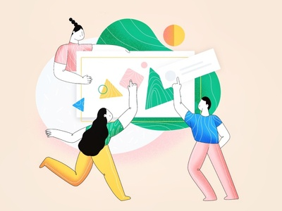 (94/100) Community concept community people design girl character designchallenge illustration
