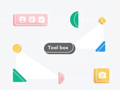 (97/100) Toolbox concept tools branding ui abstract designchallenge illustration