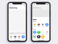 iMessage App UX Redesign