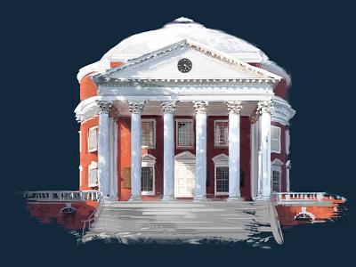 University of Virginia Rotunda digital art design photoshop
