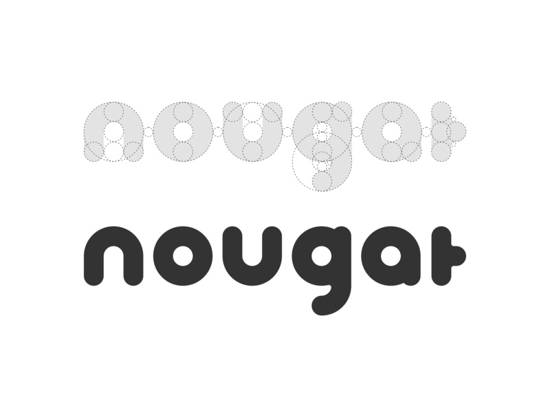 Nougat Logo Design ✏️ wordmark white black ui nougat illustrator sketch design logo