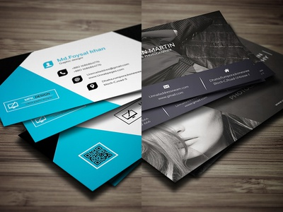 business card design by foysal khan dribbble