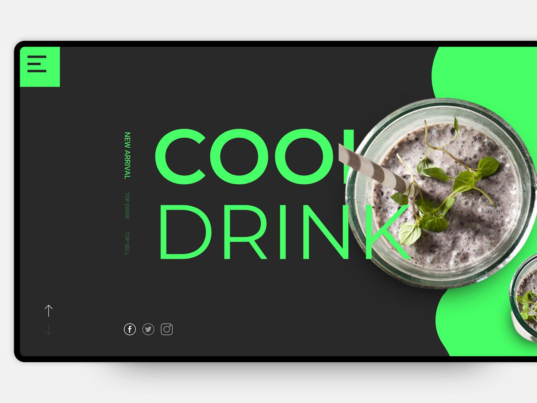 Cool Drink corporate app icon uiux web logo design ux shop cool drink web ui web ui design website design psd template user interface typography uixdesign ui psd template