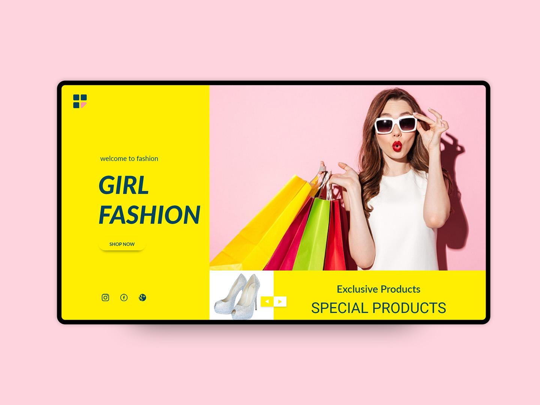 eCommerce Girl Fashion UI template branding print design logo psd typography user interface design uiux web templates design gir fashion webdesign web template ecommerce ecommerce design uidesign ui