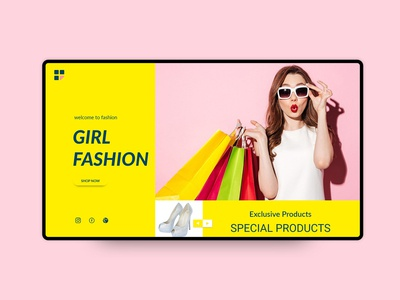 eCommerce Girl Fashion UI