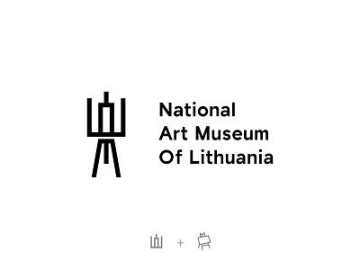 National Art Museum Of Lithuania #4 vector museum art lithuanian lithuania logodesinger logodesigns logodesign logotype clean concept brandmark mark identity branding minimal design logo