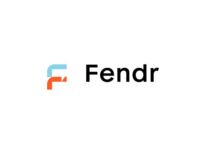 Fendr logo logotype letter logo modern logos modern logo logo design logodesign logos letter f geometric modules module speech bubble speechbubble vector clean identity branding minimal design logo