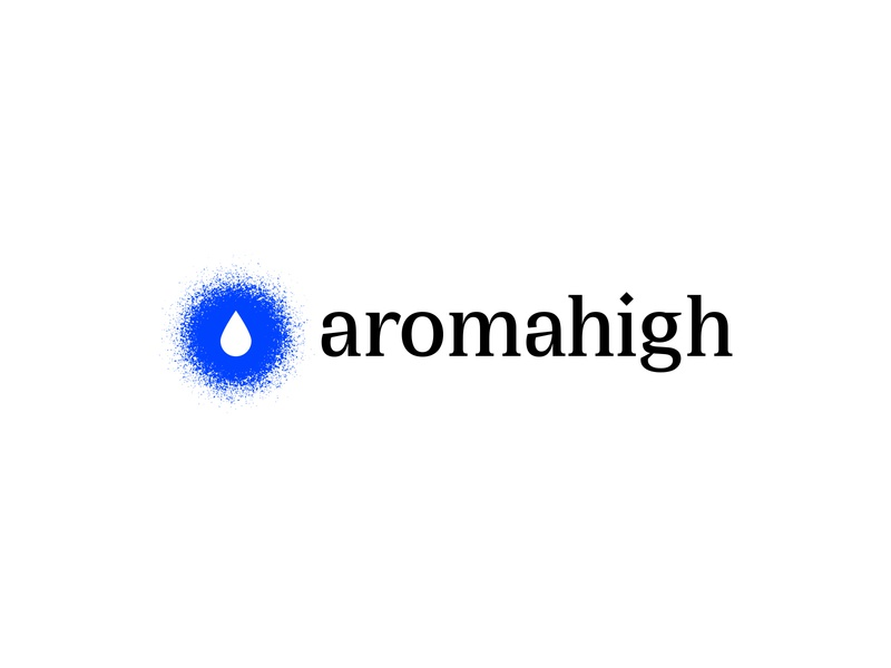 Aromahigh essential oils high essential oils essential oil aromatherapy aroma logo design logodesign logotype designer logotype design logotypedesign logotype logos vector type identity branding minimal design logo