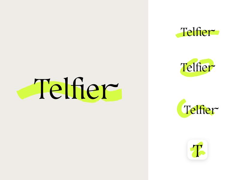 Telfier dynamic identity dynamic logo logotype concept identity branding design logo
