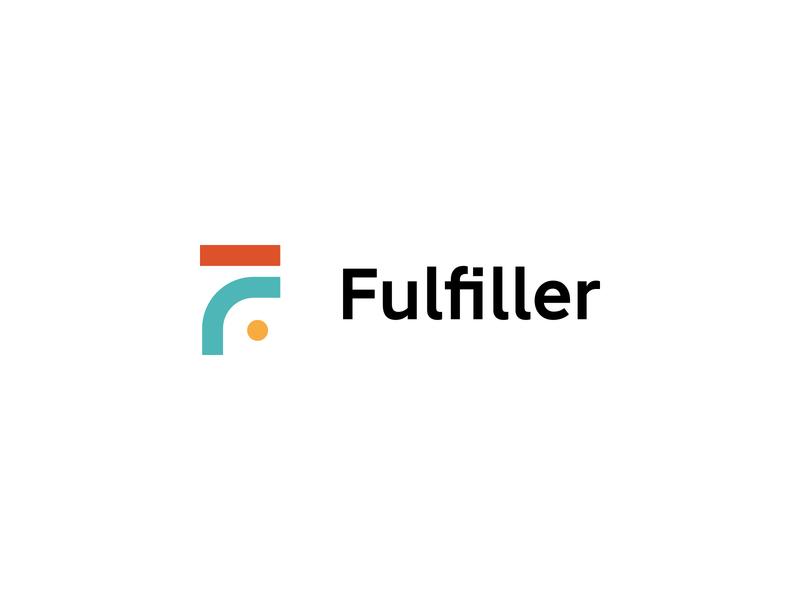 Fulfiller logo clean vector identity branding minimal design logo letter f