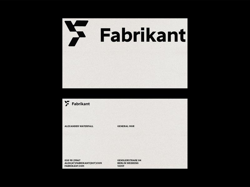 Fabrikant Business Cards logotype business card design business card card vector identity branding minimal design logo