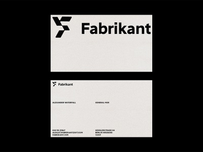 Fabrikant Business Cards logotype business card design business card card vector identity branding minimal design logo