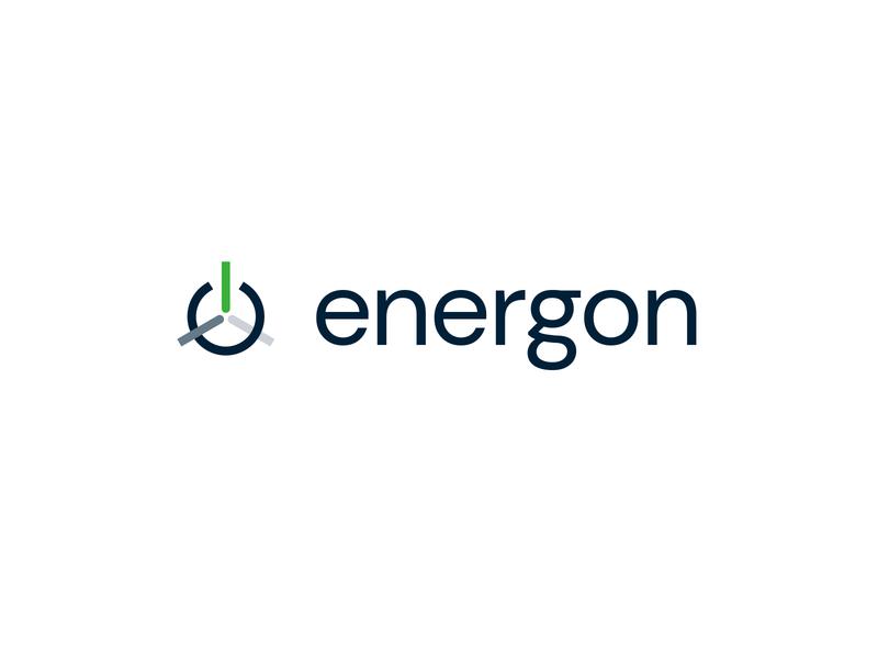 Energon wind power turbine wind power vector clean identity branding minimal design logo