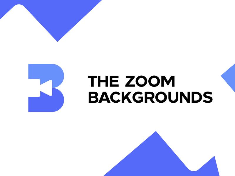 Zoom Backgrounds logotype vector clean identity branding design logo b icon b logo letter b zoom