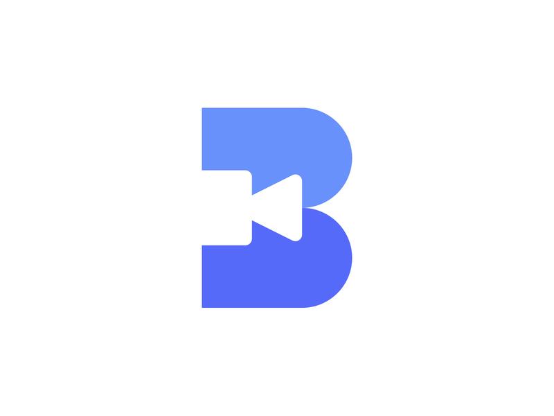 Zoom Backgrounds symbol symbol b icon letter b logo letter b zoom logotype vector brandmark mark identity branding minimal design logo