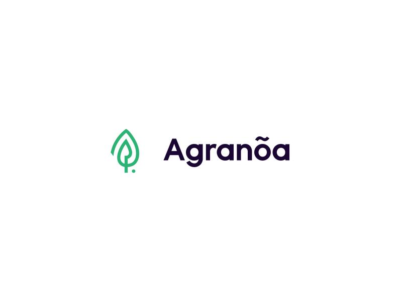 Agranoa clean brandmark mark branding minimal design logo linear garden spear leaf