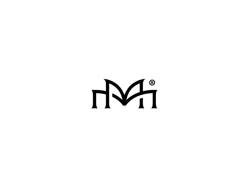 Double M custom lettering custom type custom brand identity monogram bw brand typography clean brandmark mark identity branding minimal design logo