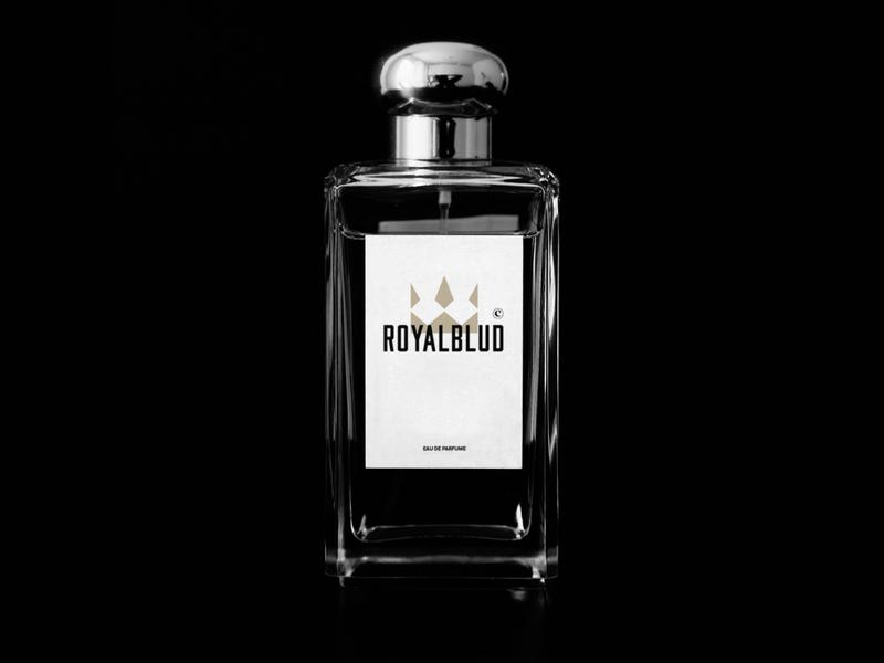 ROYALBLUD concept perfume bottle perfumery perfume concept clean mark identity branding minimal design logo