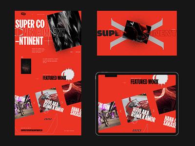 Supercontinent web direction 2 modernism brutalism layout web design website web ux ui design
