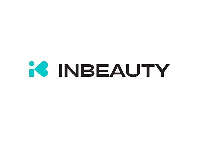 inbeauty logotype clean identity brandmark mark branding minimal design logo
