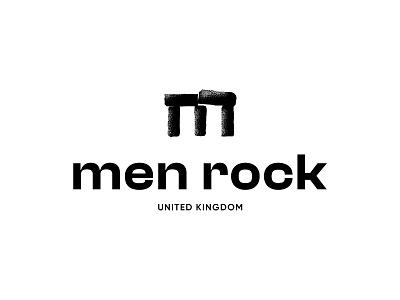 Menrock logo option 2 stone logotype concept clean brandmark mark identity branding minimal design logo