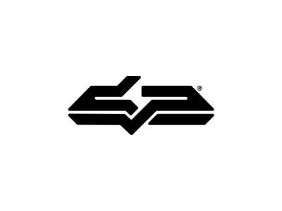 DP logomark futuristic typography type vector clean brandmark mark identity branding minimal design logo