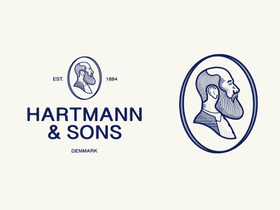 Hartmann & Sons youniquestudio younique vintage logo vintage brand identity branding logotype logo designer logodesign logomark illustration vector identity design logo