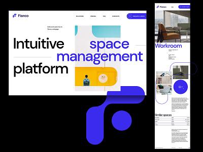 Flanco web clean ui clean branding agency agency studio minimal web website ui ux web design landing page landing layout design