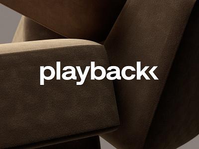 Playback minimalist logo minimalistic minimalism 3d typography type clean logo design minimal branding identity logotype icon vector brand logo design agency studio