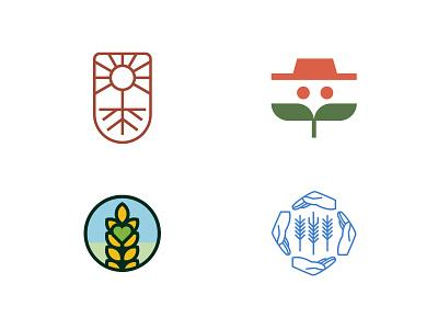 Farming project brand studio agency logodesign logo design logodesigner youniquestudio younique emblem design emblem icon illustration logotype concept vector brandmark mark design logo