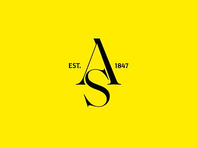 AS monogram typographic typography type monogram agency studio vector brandmark mark identity minimal branding design logo