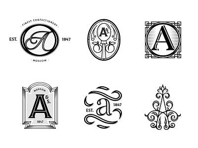 Vintage A's marks collection logotype icon vector brand branding design logo design lettering letters vintage graphic design agency studio illustration brandmark mark branding design logo