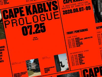 Cape Kablys 2020 visual identity typography poster design graphic design visual identity poster studio agency identity branding design