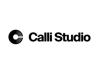 Calli Studio djschool music vinyl brandmark mark identity minimal branding design logo