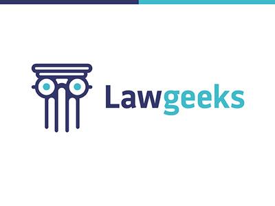 Lawgeeks logo eyeglasses pillar column geeks geek law