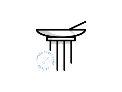Greek Tableware logo modern roman pillar dishes plate bowl table tableware greek