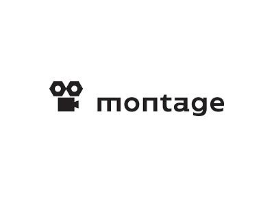 Montage logo camera bolt screw construction animation montage