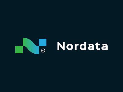 Nordata logo n vector clean typography design identity mark brandmark concept branding minimal type logo
