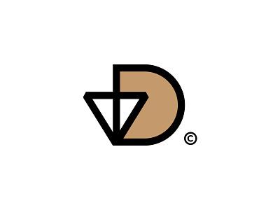 vD vd v construction vector clean design identity mark concept brandmark branding minimal logo