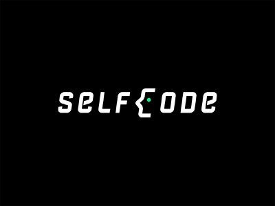 Selfcode code self face vector clean identity design type mark concept brandmark branding minimal logo