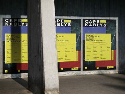 Cape Kablys festival festival poster festival minimal design branding