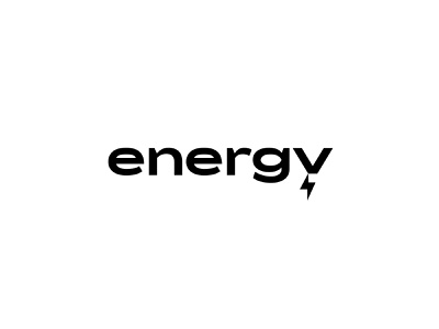 energy vector typography clean type identity branding minimal logo lightning bolt electric energy